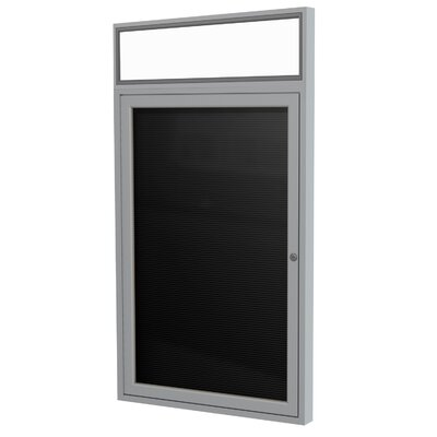 1 Door Aluminum Frame Enclosed Vinyl Letterboard Size: 36 H x 24 W x 2.25 D Frame Finish: Satin Surface Color: Black