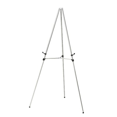 Ghent Aluminum 3 Leg Telescoping Display Easel - Color: Satin
