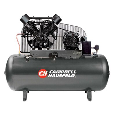 Campbell Hausfeld 120 Gallon 5 HP Two Stage 3 Phase Air Compressor with Starter