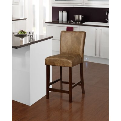 Big Bear Lake 24 Distressed Brown Bar Stool