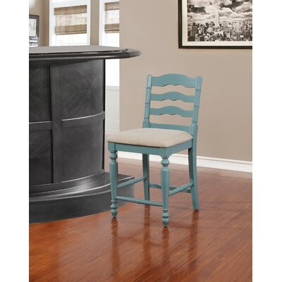 Sonya 24 Bar Stool Finish: Blue with Rub Through