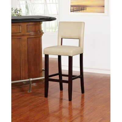 Tolland 30 Bar Stool Finish: Brown, Upholstery: Camel