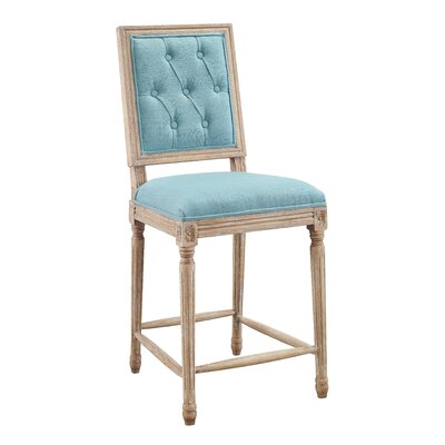 Patillo Tufted 25 Bar Stool Upholstery: Blue