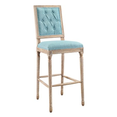 Patillo 25 Bar Stool Upholstery: Blue