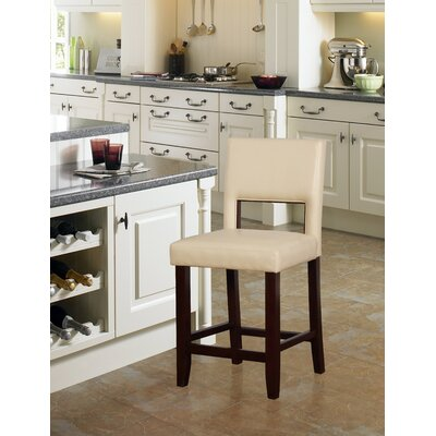 Tolland 24 Bar Stool Finish: Brown, Upholstery: Camel
