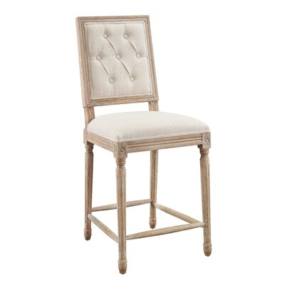 Patillo Tufted 25 Bar Stool Upholstery: Natural