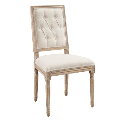 Patillo Tufted Square Back Upholstered Dining Chair Upholstery Color: Natural