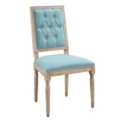 Patillo Tufted Square Back Upholstered Dining Chair Upholstery Color: Blue