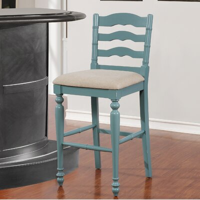 Sonya 30 Bar Stool Finish: Blue with Rub Through