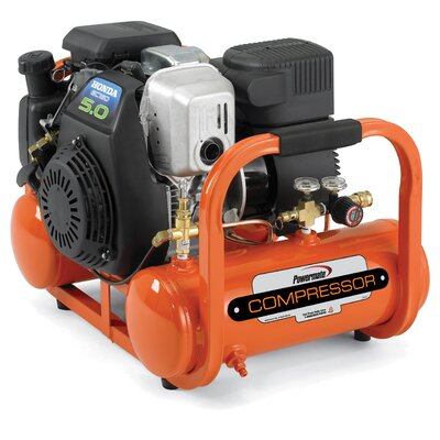 Cheap Powermate Contractor 4 Gallon Honda Powered Oil Free Direct Drive Air Compressor (CLP1464)