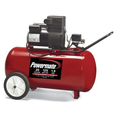 Cheap Powermate 20 Gallon Oil Free Direct Drive Air Compressor (CLP1444)