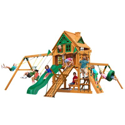 Frontier Treehouse Swing Set Color: Natural