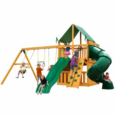 Mountaineer Clubhouse Swing Set Finish: Vinyl Canopy - Green