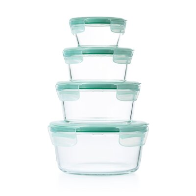 Good Grips SNAP Glass Round 8 Piece Container Food Storage Set 11179500
