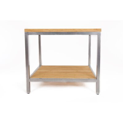 Betances Steel Framed Bamboo Rectangular Side Table Finish: Timber