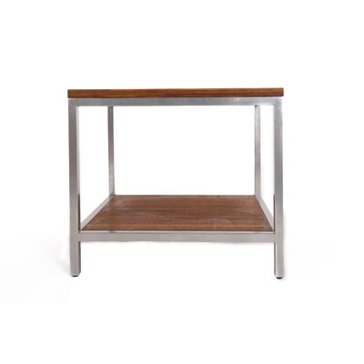 Betances Steel Framed Bamboo Side Table Color: Koa