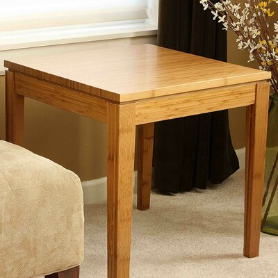 Financing Brazil Bamboo End Table Finish: Hon...