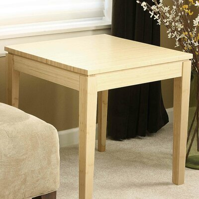 Lease to own Brazil Bamboo End Table Finish: Bea...