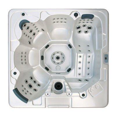 SPA, HOT TUB, JACUZZI 5-Person 106-Jet Hot Tub with MP3 Auxiliary Output Shell Color: Mahogany