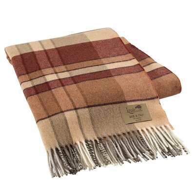 Mod Plaid Lambswool Throw Color: Spice