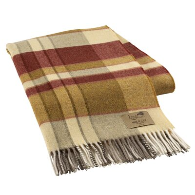 Mod Plaid Lambswool Throw Color: Mustard