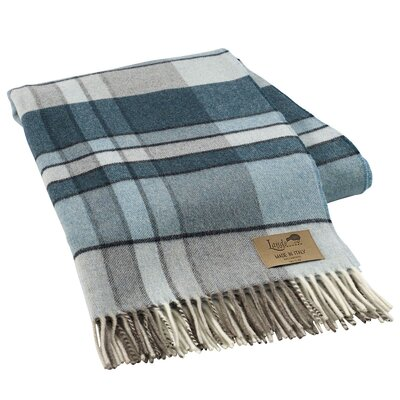 Mod Plaid Lambswool Throw Color: Teal