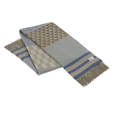 Calypso Geo Italian Throw Color: Blue