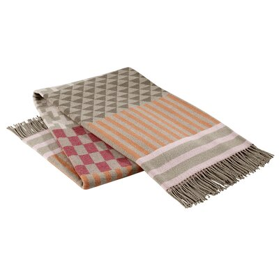 Calypso Geo Italian Throw Color: Pink