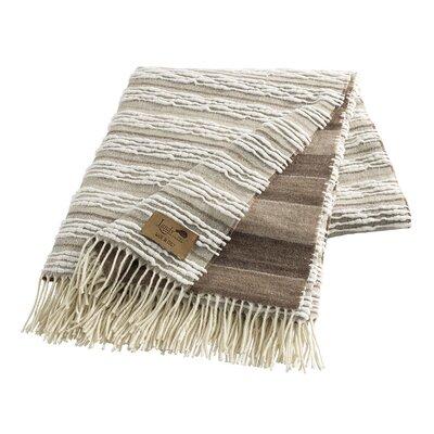 Strato Italian Blanket Color: Taupe