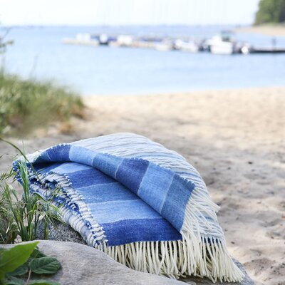 Strato Italian Blanket Color: Blue