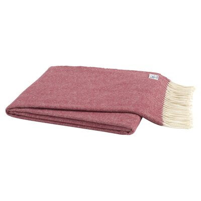 Herringbone Throw Color: Pomegranate