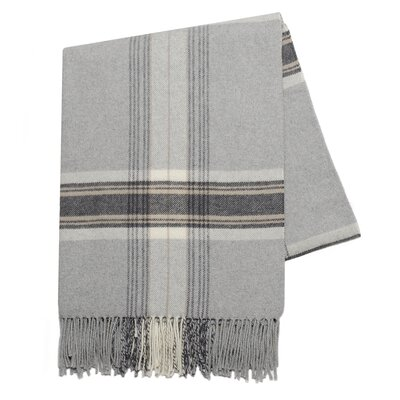 Plaid Signature Throw Blanket Color: Light Gray