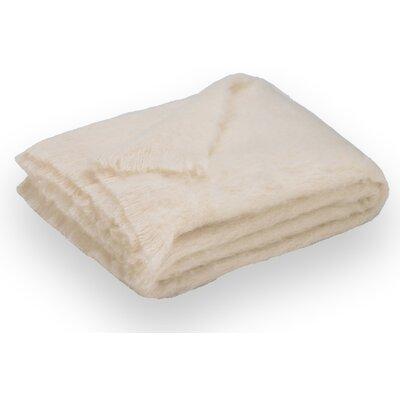 Brushed Alpaca Wool Throw Color: Cream