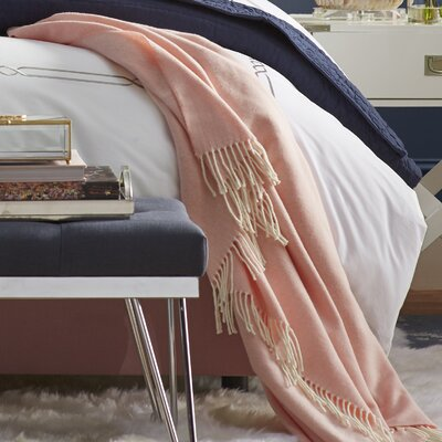 Herringbone Throw Blanket Color: Blush