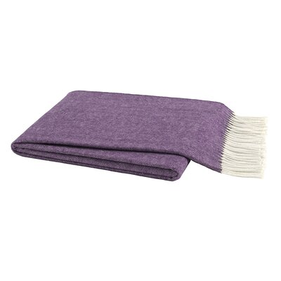 Herringbone Throw Color: Plum