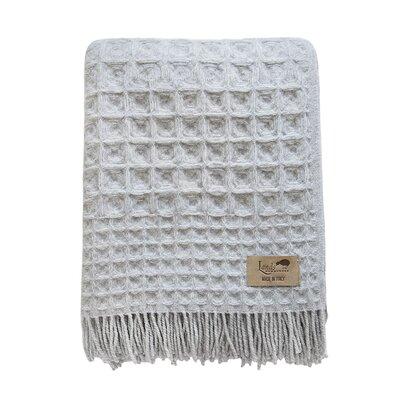 Burrandale Wool Blanket Throw Color: Gray
