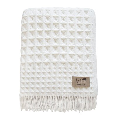 Burrandale Wool Blanket Throw Color: White