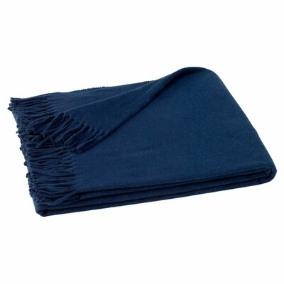 Lands Downunder Italian Solid Cotton/Acrylic Throw - Color: Deep Navy at Sears.com