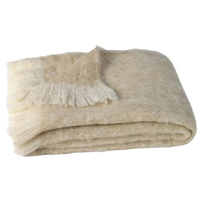 Brushed Alpaca Wool Throw Color: Sand