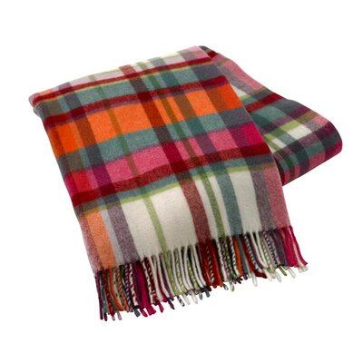Italian Plaid Lambswool Throw Color: Venezia