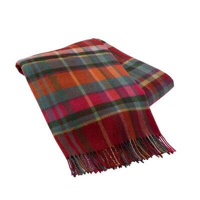 Italian Plaid Lambswool Throw Color: Torino