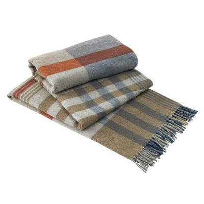 Italian Plaid Lambswool Throw Color: Napoli
