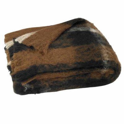 Brushed Alpaca Wool Throw Color: Lodge Plaid