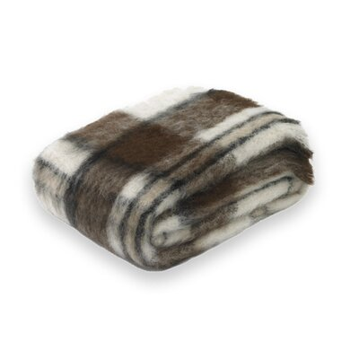 Brushed Alpaca Wool Throw Color: Apache Plaid