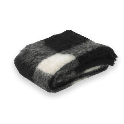 Brushed Alpaca Wool Throw Color: Friesian Plaid