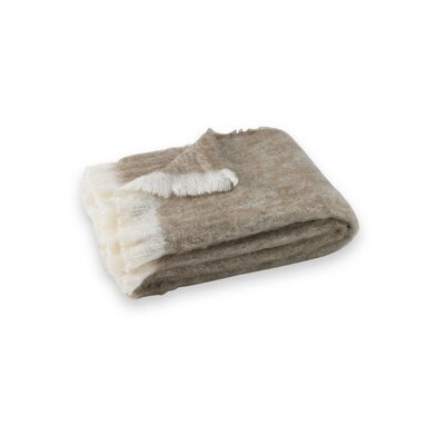Brushed Alpaca Wool Throw Color: Drift