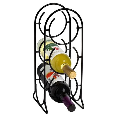 Horseshoe 3 Bottle Tabletop Wine Rack Finish: Black
