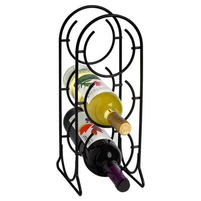 Horseshoe 3 Bottle Tabletop Wine Rack Finish: Black