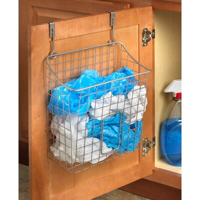 Over the Cabinet Grid Cabinet Door Organizer Color: Satin Nickel