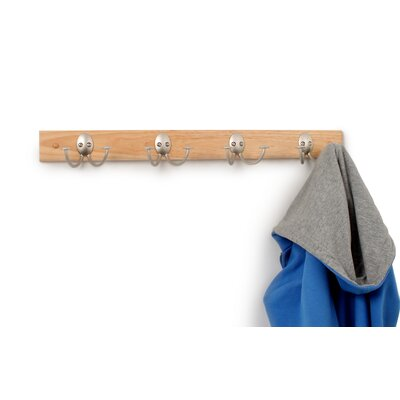 Stratford Wood Rack 4-Double Wall Hook